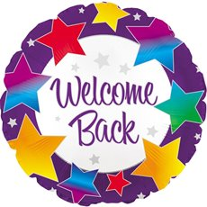Foil Balloon 17 (42.5cm Dia) Round Welcome Back Bright Star