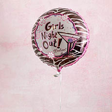 Foil Balloon 17 (42.5cm Dia) Round Girls Night Out