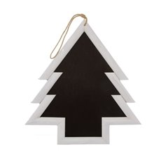 Wooden Chalkboard Tree Shaped White (61.5x2.3x65cmH)