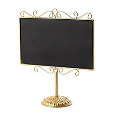 Chalkboards - Metal Chalkboard Table Top Gold 34x13.5x41cmH