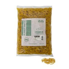Rubber Bands Bag 500g Size 8 Yellow (22cmLx1.5mmW)