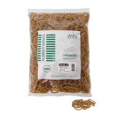 Rubber Bands - Rubber Bands Bag 500g Size 10 Natural (35mmLx1.5mmW)