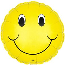 Foil Balloon 9 (22.5cm Dia) Round Smiley Face