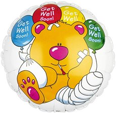 Foil Balloon 9 (22.5cm Dia) Round Brewster Get Well