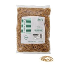 Rubber Bands - Rubber Bands Bag 500g Size 12 Natural (47cmLx1.5mmW)
