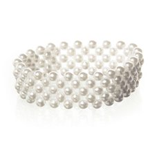 Corsage Pearl Bead Bracelet x 5 Strand Ivory
