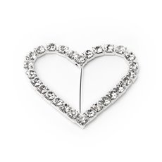 Corsage Bouquet Buckles - Corsage Buckle Diamante Heart Medium (40mmx45mm)