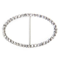 Corsage Bouquet Buckles - Corsage Buckle Diamante Oval Large (50x80mm)