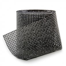 Corsage Bouquet Accessories - Diamante Mesh Roll Black (11.5cmDx9.14m)