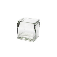 Recycled Style & Coloured Vases - Glass Country Cube Clear (12x12x12cmH)
