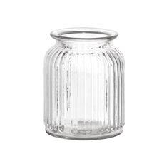 Recycled Style & Coloured Vases - Hurricane Glass Jar Clear Medium (11Dx14.5cmH)