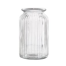 Recycled Style & Coloured Vases - Hurricane Glass Jar Clear Large (11Dx18.5cmH)