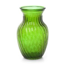 Glass Country Bella Vase 12Dx20mH Tint Green