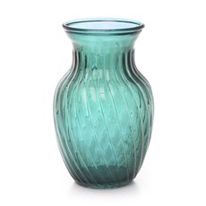 Recycled Style & Coloured Vases - Glass Country Bella Vase 12Dx20mH Tint Blue