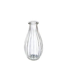 Glass Bottles - Glass Vintage Bottle Cafe Bud Vase 7x14.5cmH Clear