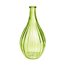 Glass Vintage Bottle Bud Vase 10x20cmH Green