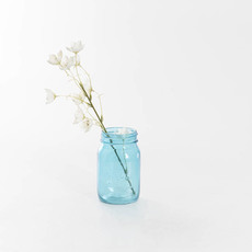 Mason Jars - Glass Mason Jar Medium 8.5x13.5cmH Blue