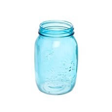 Mason Jars - Glass Mason Jar Large 10x17cmH Blue