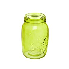 Mason Jars - Glass Mason Jar Large 10x17cmH Green