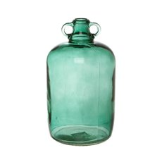 Glass Village Bottle Large  Blue (18.5Dx31.5cmH)