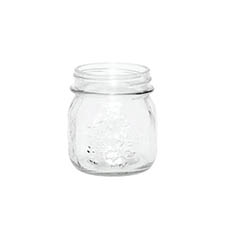 Mason Jars - Glass Mason Jar Small 8x9cmH Clear