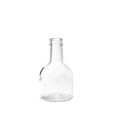 Glass Bottles - Glass Bottle Bud Vase Clear (TD:3.3xBD:8.4x15cmH)