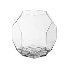 Geometric Terrariums - Geometric Glass Fish Bowl Large Clear (23cmDx22cmH)