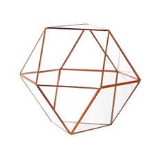 Geometric Glass Terrarium Large Copper (26x24x22.5cm)