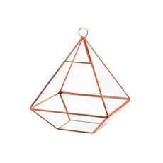 Geometric Terrariums - Geometric Terrarium Pyramid Copper 15x15x20.5cmH
