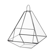 Geometric Terrariums - Geometric Terrarium Large Pyramid Black (21x21x28cmH)