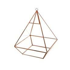 Geometric Terrariums - Geometric Terrarium Large Pyramid Copper21x21x28cmH