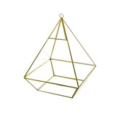 Geometric Terrariums - Geometric Terrarium Large Pyramid Gold 21x21x28cmH