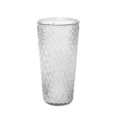 Bernice Glass Vase Conical Clear (15x30cmH)