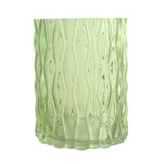 Glass Cylinder Vase Ripple Look Spanish Green (15x20cmH)