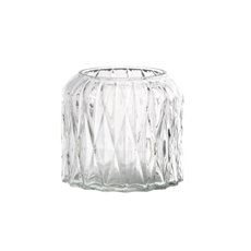Recycled Style & Coloured Vases - Glass Isabella Cylinder Vase Clear (12.5x11.5cmH)