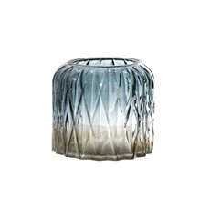 Recycled Style & Coloured Vases - Glass Isabella Cylinder Vase Pearl Grey (12.5x11.5cmH)