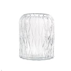 Recycled Style & Coloured Vases - Glass Isabella Cylinder Vase Clear (14.5x18cmH)