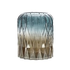 Recycled Style & Coloured Vases - Glass Isabella Cylinder Vase Pearl Grey (14.5x18cmH)