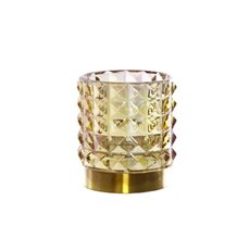 Recycled Style & Coloured Vases - Glass Edward Cylinder Vase Gold Pearl (9.5x10.5cmH)