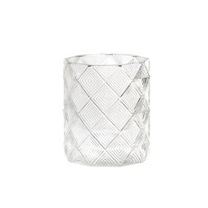 Recycled Style & Coloured Vases - Glass Yvonne Cylinder Vase Clear (10.5x12.5cmH)