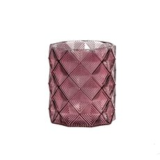 Recycled Style & Coloured Vases - Glass Yvonne Cylinder Vase Burgundy (10.5x12.5cmH)