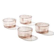 Candle Holders - Glass Tealight Holder Josie Rose Gold (4.5x2.1cmH)
