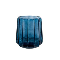 Recycled Style & Coloured Vases - Glass Marina Vase Blue (17.5x18.5cmH)