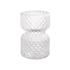 Recycled Style & Coloured Vases - Glass Harlow Vase Clear (11Dx16cmH)