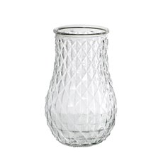 Recycled Style & Coloured Vases - Glass Ollie Vase Clear (16Dx25cmH)