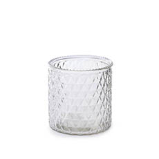 Recycled Style Glass Vases - Glass Ann Maggie Vase Clear (12Dx12cmH)