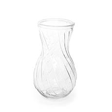 Recycled Style Glass Vases - Glass Twist Tina Vase Clear (12.6Dx22cmH)