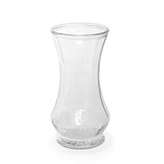 Recycled Style Glass Vases - Glass Twist Alan Ace Vase Clear (10DX21cmH)