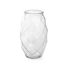 Recycled Style Glass Vases - Glass Twist Lotus Vase Clear (12.5DX21.5cmH)