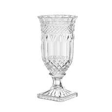 Decorative Glass Vases - Versailles Crystal Glass Vase Clear (16Dx33cmH)